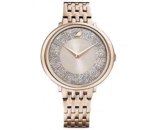 SWAROVSKI Crystalline Chic Watch, Metal bracelet, Gray, Champagne-gold tone PVD