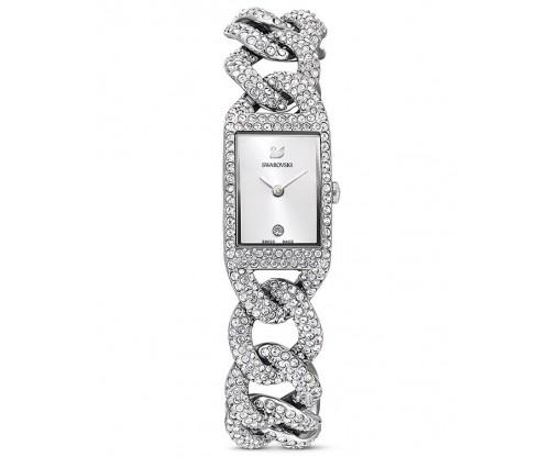 SWAROVSKI Cocktail Watch, Metal bracelet, Silver tone, Stainless Steel