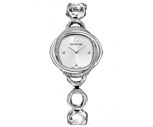 SWAROVSKI Crystal Flower Watch, Metal bracelet, Silver tone, Stainless steel