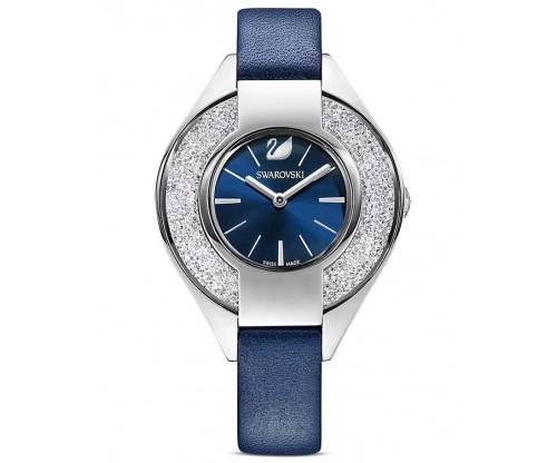 SWAROVSKI Crystalline Sporty Watch, Leather strap, Blue, Stainless steel