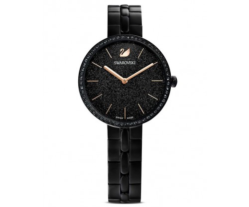 SWAROVSKI Cosmopolitan Watch, Metal Bracelet, Black, Black PVD