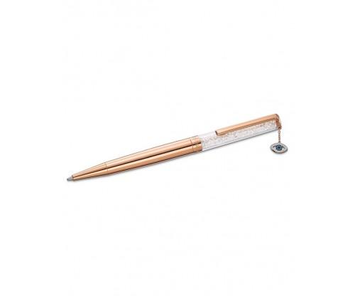 SWAROVSKI Crystalline Evil Eye Ballpoint Pen, White, Rose-gold tone plated