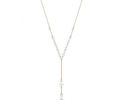 SWAROVSKI Attract Y Necklace White Rose-gold tone plated