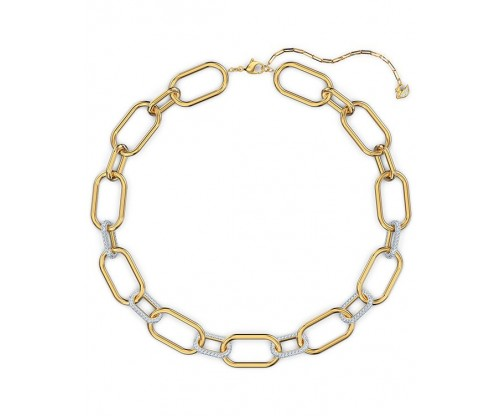 SWAROVSKI Time Necklace, White, Mixed metal finish