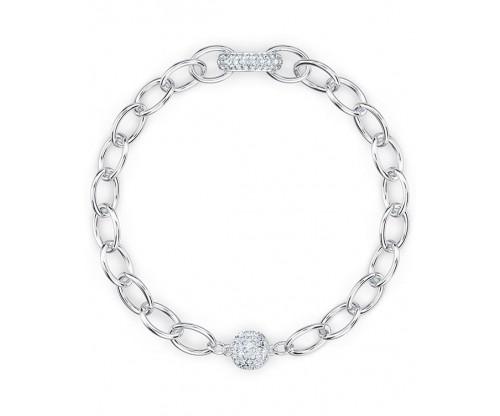 SWAROVSKI The Elements Chain Bracelet, White, Rhodium plated, Size M