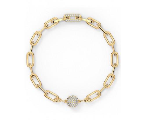 SWAROVSKI The Elements Chain Bracelet, White, Gold-tone plated, Size M
