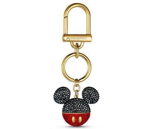 SWAROVSKI Mickey Bag Charm, Black, Gold-tone plated