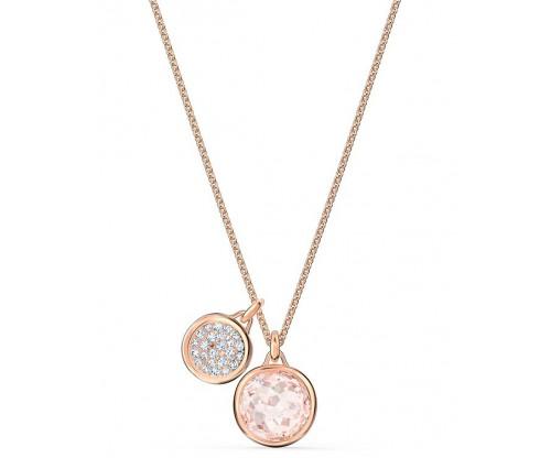 SWAROVSKI Tahlia Doble Pendant, Pink, Rose-gold tone plated