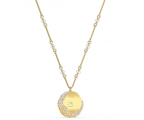 SWAROVSKI The Elements Pendant, Yellow, Gold-tone plated