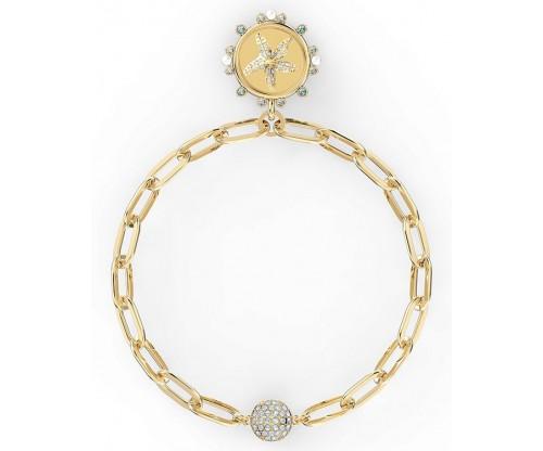 SWAROVSKI The Elements Star Bracelet, White, Gold-tone plated, Size M