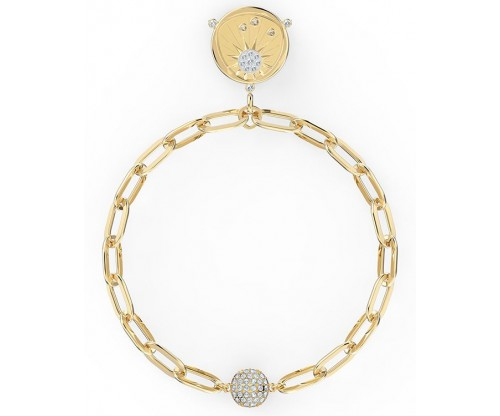 SWAROVSKI The Elements Sun Bracelet, White, Gold-tone plated, Size L