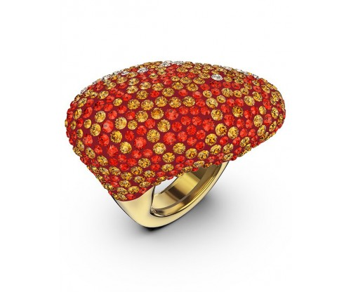 SWAROVSKI The Elements Ring, Orange, Gold-tone plated, Size 55-58