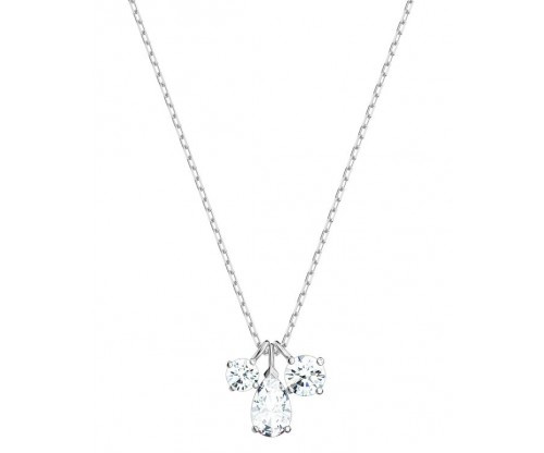 SWAROVSKI Attract Cluster Pendant, White, Rhodium plated