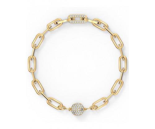 SWAROVSKI The Elements Chain Bracelet, White, Gold-tone plated, Size S
