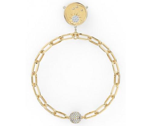 SWAROVSKI The Elements Sun Bracelet, White, Gold-tone plated, Size M