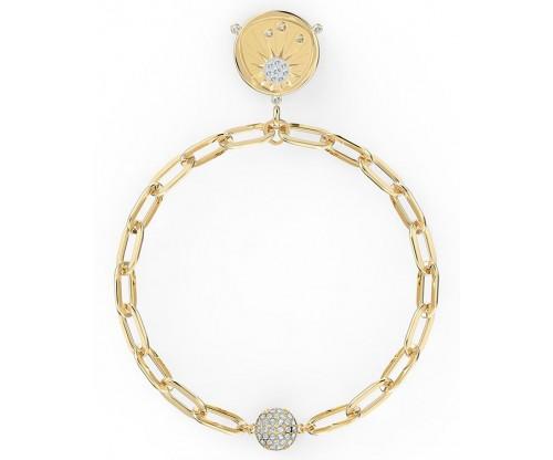 SWAROVSKI The Elements Sun Bracelet, White, Gold-tone plated, Size S