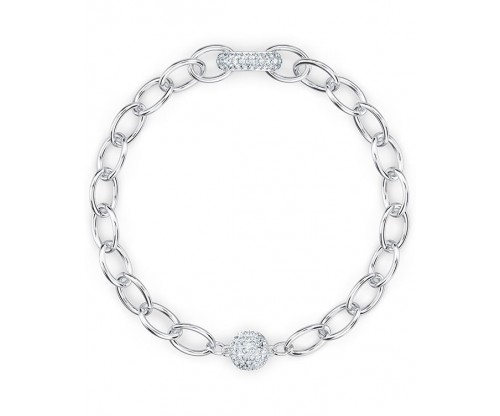 SWAROVSKI The Elements Chain Bracelet, White, Rhodium plated, Size S