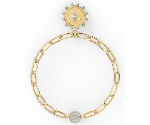 SWAROVSKI The Elements Star Bracelet, White, Gold-tone plated, Size L