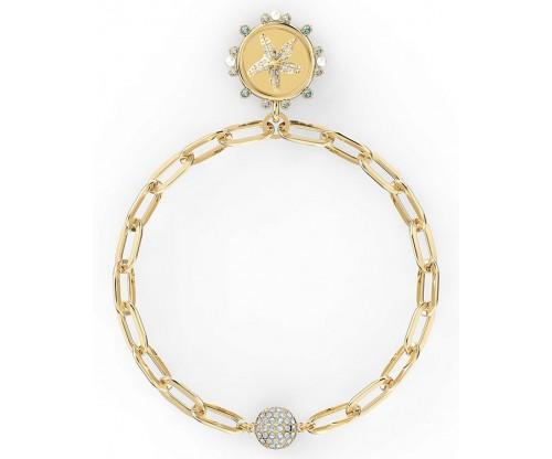 SWAROVSKI The Elements Star Bracelet, White, Gold-tone plated, Size S