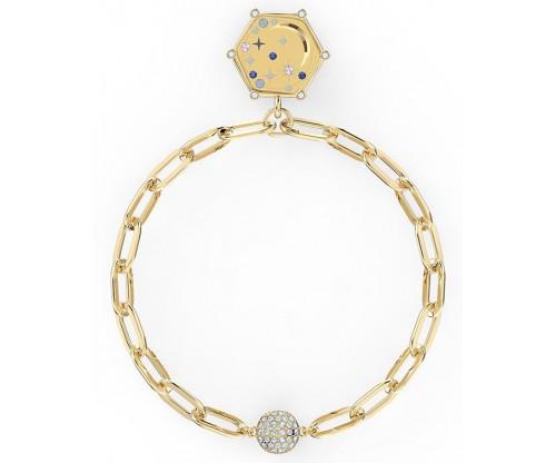 SWAROVSKI The Elements Moon Bracelet, Blue, Gold-tone plated, Size L