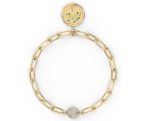 SWAROVSKI The Elements Tree Bracelet, Green, Gold-tone plated, Size L