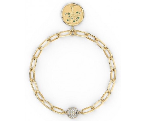 SWAROVSKI The Elements Tree Bracelet, Green, Gold-tone plated, Size S