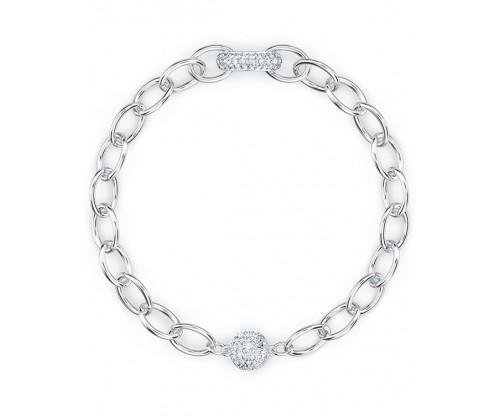 SWAROVSKI The Elements Chain Bracelet, White, Rhodium plated, Size L