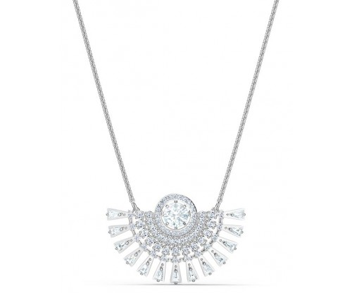 SWAROVSKI Sparkling Dance Dial Up Necklace Medium White Rhodium plated