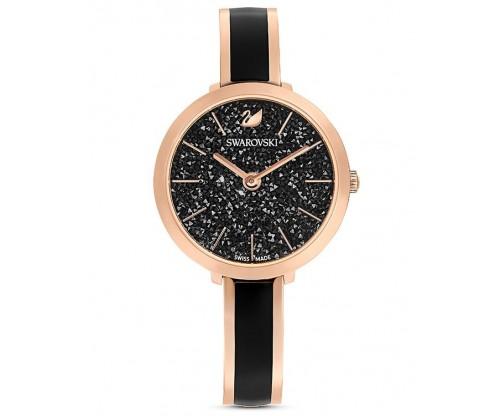 SWAROVSKI Crystalline Delight Watch, Metal Bracelet, Black, Rose-gold tone PVD