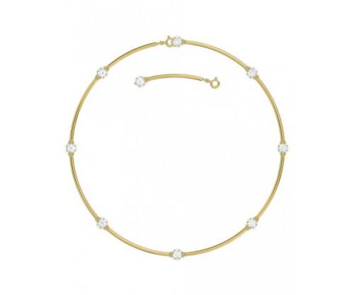 SWAROVSKI Constella choker, White, Gold-tone plated