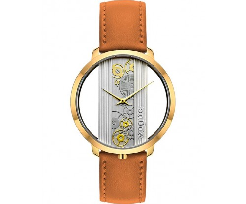 VOGUE Telescopic Brown Leather Strap