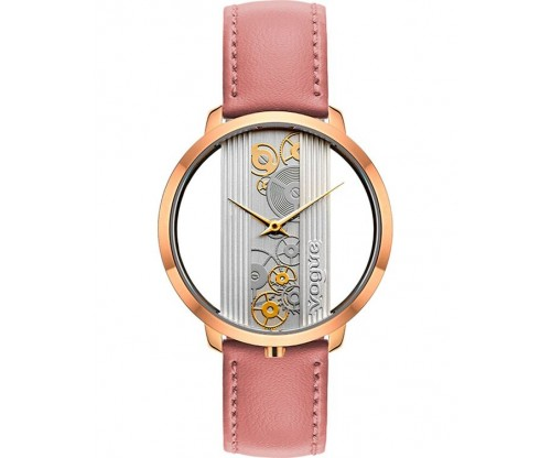 VOGUE Telescopic Pink Leather Strap