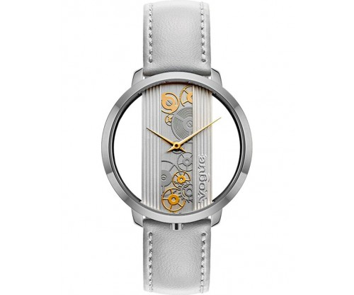 VOGUE Telescopic Grey Leather Strap