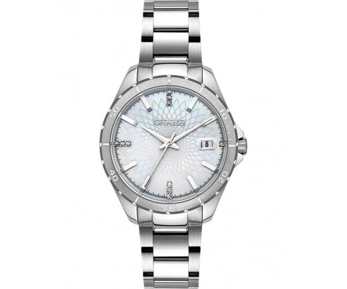 BREEZE MantaRay Crystals Silver Stainless Steel Bracelet