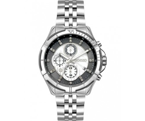 BREEZE Empressa Chronograph Stainless Steel Bracelet