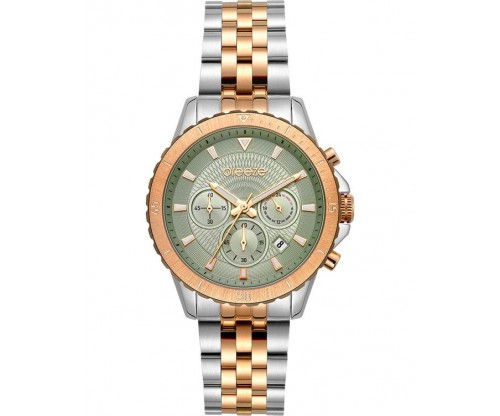 BREEZE Invernia Chronograph Two Tone Stainless Steel Bracelet