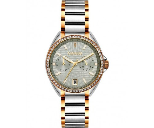 BREEZE Royalisse Crystals Two Tone Stainless Steel Bracelet