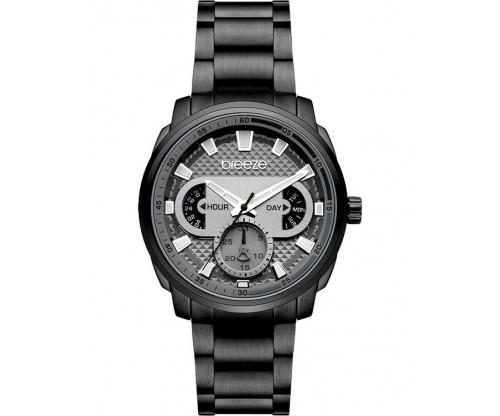 BREEZE CitySpicer Black Stainless Steel Bracelet