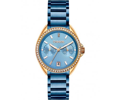 BREEZE Royalisse Crystals Blue Stainless Steel Bracelet