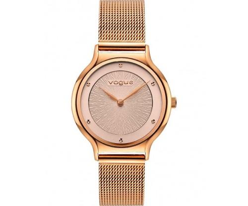 VOGUE Crystal Rose Gold Stainless Steel Bracelet