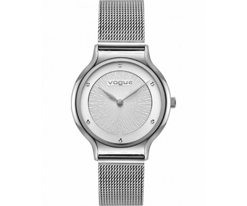 VOGUE Crystal Silver Stainless Steel Bracelet