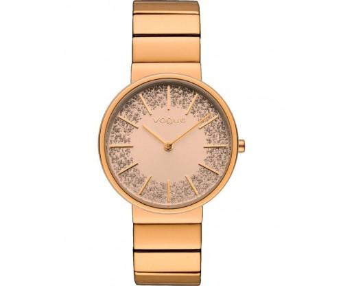 VOGUE Monica Rose Gold Stainless Steel Bracelet
