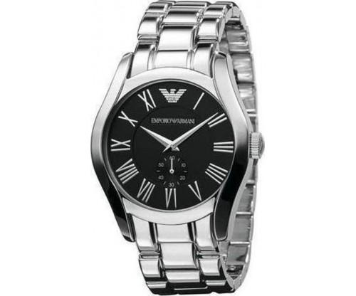 Emporio ARMANI Black Dial Stainless Steel Bracelet