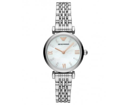 Emporio ARMANI Gianni T-Bar Crystals Stainless Steel Bracelet