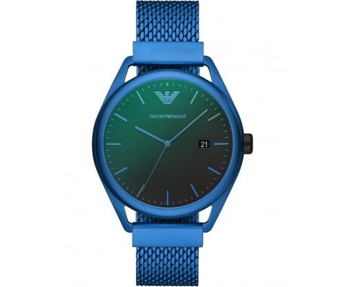 Emporio ARMANI Matteo.. Blue Aluminium Bracelet