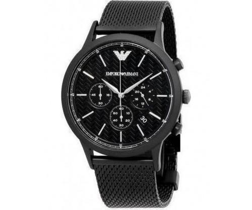 Emporio ARMANI Renato Chronograph Black Stainless Steel Bracelet