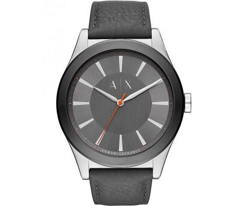 ARMANI EXCHANGE Niko Grey Leather Strap