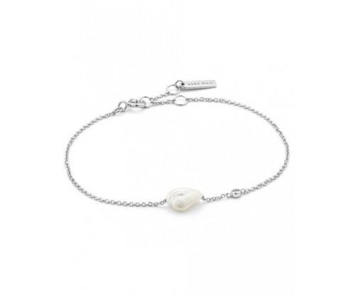 ANIA HAIE Pearl Bracelet, Silver, Rhodium Plated