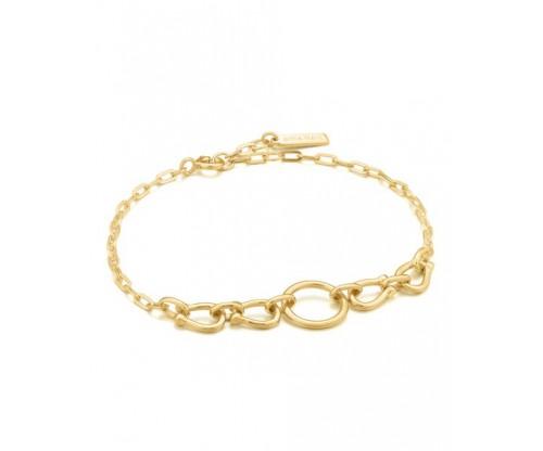 ANIA HAIE Horseshoe Link Bracelet, Silver, Gold-tone plated