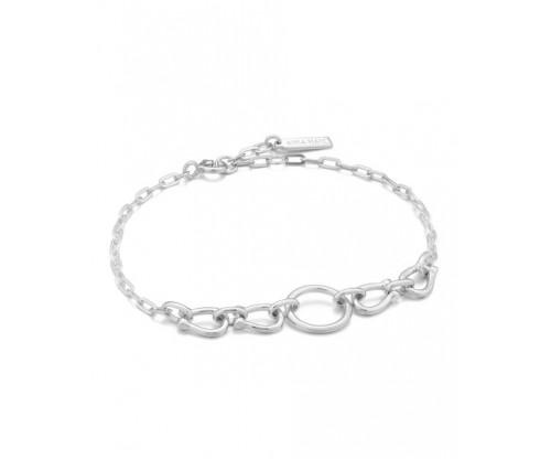 ANIA HAIE Horseshoe Link Bracelet, Silver, Rhodium Plated